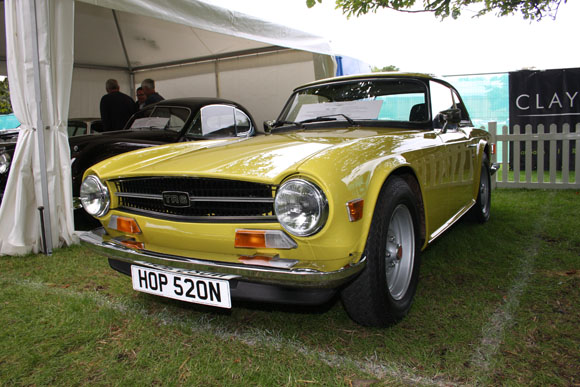 Triumph TR6 at Beaulieu International Autojumble 2015
